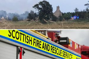 A fire has broken out at a group of farm buildings near Whitburn. Picture: D Fuller