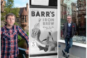 David McLean (left image) and Norry Wilson (right image) have hit back against claims their nostalgia groups have become magnets for racist content. The offending Ba Bru advert (pictured) was dropped in the 1980s.