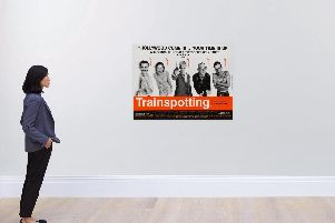 The original Trainspotting poster could fetch a four-figure sum. Picture: Sotheby's