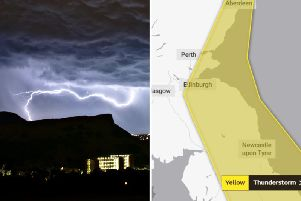 Edinburgh weather: Experts at Met Office issue yellow thunderstorm warning
