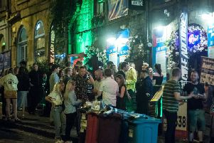 A number of people were out in the area on Saturday night for the end of the Edinburgh Festival.