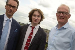 From left: Scottish Chamber Orchestra boss Gavin Reid, Maxim Emelyanychev, and  Alastair Scott, MD of 20/20 Productions. Picture: contributed.