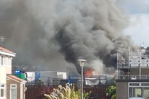 The fire at Gilmerton Primary School. Picture: Alan Snow McSparron