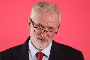 Jeremy Corbyn was making a keynote speech in Salford today where he is holding a shadow cabinet meeting.