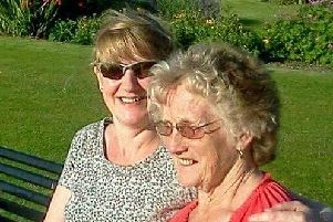 Sharon Roberts, 60, with her late mother.