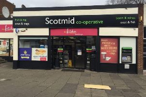 Police were seen at the Scotmid in Saughton Road North