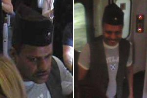 Police have released images of a man they want to speak with. Pic: British Transport Police.