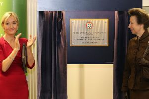 JK Rowling at the opening of the Anne Rowling Regenerative Neurology Clinic.