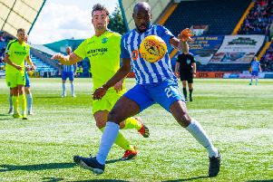 Hibs lost both league games at Rugby Park last season. Picture: SNS