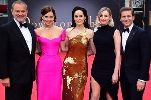 The cast and crew of Downton Abbey at London's Leicester Square for the world premiere of the film.