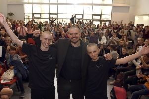 The brothers after the head shave.