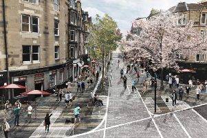 How Forrest Road could look under the City Centre Transformation Plan