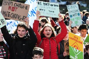 Teenage organisers say they have been threatened with arrest if they defy the ban on marching along Princes Street.