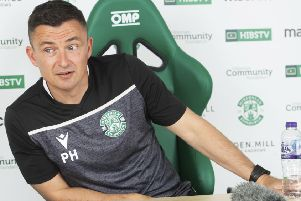 Paul Heckingbottom faces the media ahead of Sunday's crunch derby at Easter Road