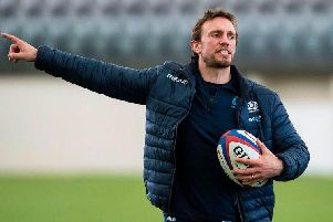 Scotland assistant coach Mike Blair is confident Scotland can deal with bad weather in Yokohama tomorrow. Picture: SRU/SNS