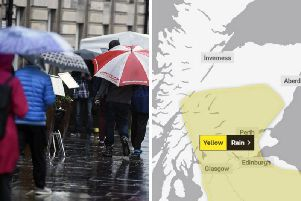Yellow weather warning issued for Edinburgh this weekend as heavy rain set to hammer the Capital