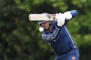 Calum MacLeod scored 39 runs but Scotland lost to Namibia. Picture: Ian MacNicol/Getty Images