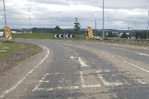 The A90 roundabout near Ellon