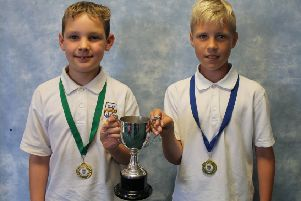 Joint Boys Championships winners William Mitchell and Aidan McCormick