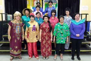The cast of Ellon's pantomime 'Aladdin' are preparing for their upcoming performances