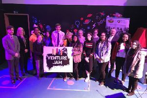 The 2018 VentureJam finalists at Glasgow Science Centre
