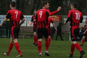 Dalbeattie Star celebrate in 6-1 win over Creetown (picture: Dalbeattie Star)