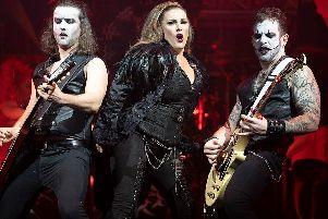 Sam Bailey takes on the role of Vampire Queen in Steve Steinmans latest musical extravaganza Vampires Rock Ghost Train.