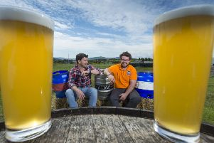 Guy , left, and Mungo Finlayson who also run the Banchory Beer Festival