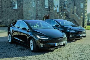 Bains Coaches have two of the latest Tesla electric cars.