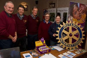 As well as organising the event, members of Ellon Rotary also had an information table