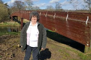 Cllr Owen at the Meiklemill Bridge