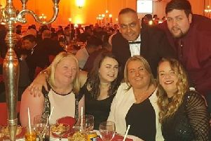 The team at Indian Delight enjoys its success at the Scottish Curry Awards