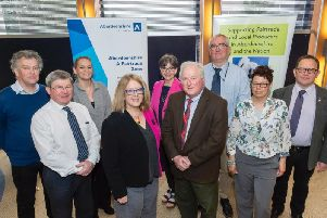 Members of Aberdeenshire Councils Sustainability Committee: Cllr Martin Ford, Cllr Iain Taylor, Cllr Victoria Harper, Cllr Isobel Davidson (committee vice-chair), Cllr Sarah Dickinson, Cllr Colin Pike (committee chair), Cllr Sandy Wallace, Cllr Anouk Kloppert, Cllr Neil Baillie