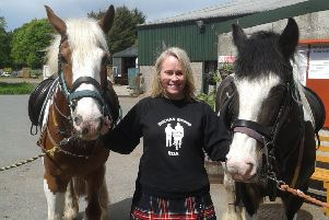 Yvonne Guyan with two Ladymire horses used for RDA, Harry and Milo