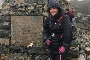 Debbie Green from Viewpark reaches the summit of Ben Nevis in aid of St Andrew's Hospice