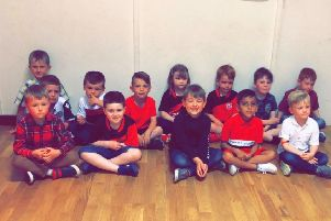 Tweedbank Thistle's P1 players.