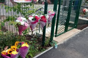 Floral tributes have been laid at Stuartfield School