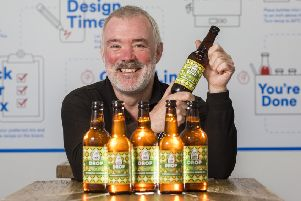 Mark Hazell, of Jaw Brew, supports a deposit return scheme for glass. (Photo: Iain McLean)