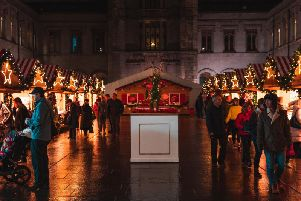The Christmas in the Quad Market will be open during peak times from Thursday evening to Sunday evening