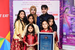Raj Hamid and his family with the Carron to Mumbai's awards