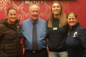 Jack Nixon with guests Michele Thomson, Emma Wassell and Fiona Campbell