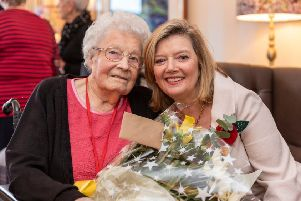 Elsie Gall (Bunty) with Fiona Kennedy at the opening event