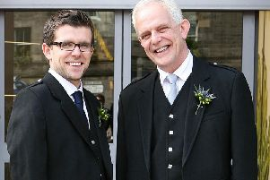 Lawrence and his father Richard. Lawrence will be walking the streets of Scotland this month to raise money to take on COPD, a disease suffered by Richard.