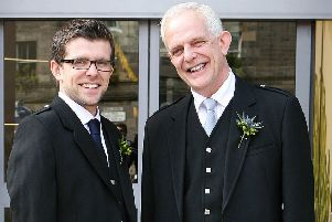 Lawrence and his father Richard