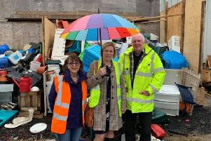 Gillian Martin MSP on a recent visit to Wood RecyclAbility