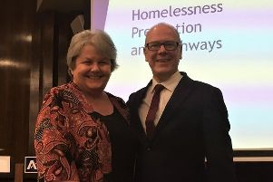 Aberdeenshire Council's communities committee chair Councillor Anne Stirling and Housing Minister Kevin Stewart