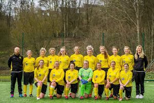 The Stonehaven Ladies squad who took on Kelty Hearts