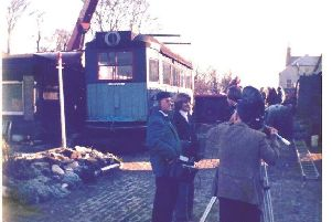 A television crew visited Heather Dea's Slamannan home in the 1970s to see the tram up close