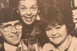 Kevin O'Brien with The Krankies in 1986