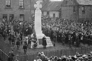 The Laurieston Memorial unveiled in August 1921